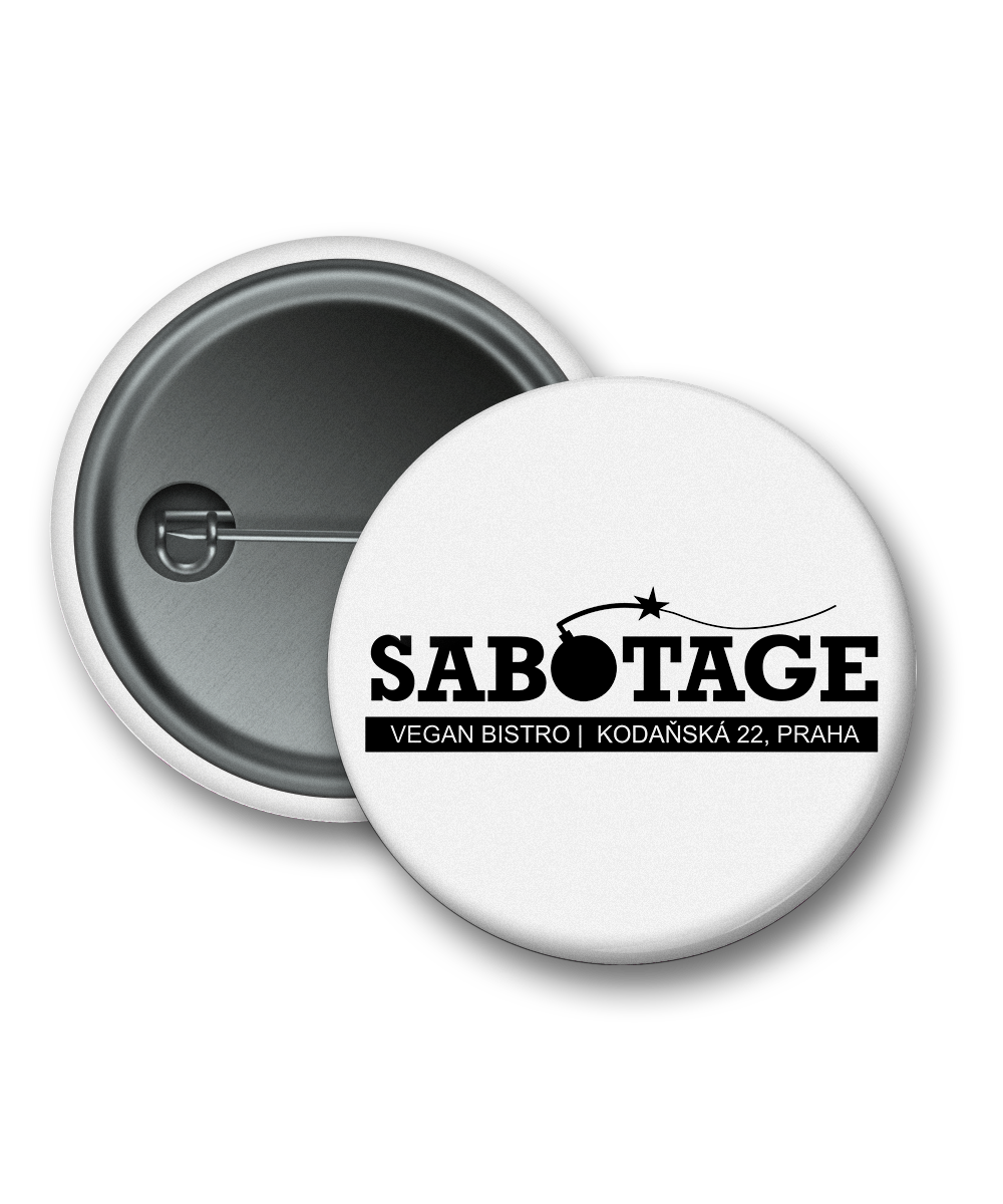 Obrázek k produktu: Placka SABOTAGE logo